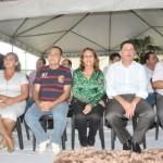 Ao lado do governador a prefeita Cida Furtado, o secretário Ademir e a vice-prefeita Irmã Diva