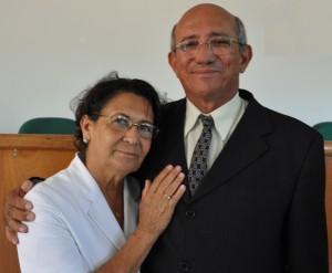 Ex-prefeito Otair Teodoro  e a ex-primeira-dama Ana Aparecida